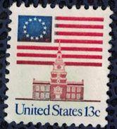 Etats Unis 1981 Used Sans Gomme US Flag Drapeau 13 étoiles Au Dessus De L'Independence Hall SU - Vereinigte Staaten