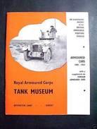 Militaria Tank Museum Carro Armato 1900/1963 - 1967 - Documenti