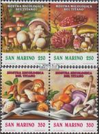 San Marino 1516-1519 Paare (kompl.Ausg.) Postfrisch 1992 Pilz-Ausstellung - Unused Stamps