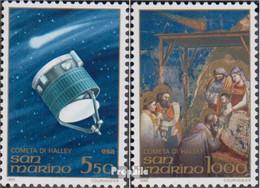 San Marino 1337-1338 (kompl.Ausg.) Postfrisch 1986 Halleyscher Komet - Neufs