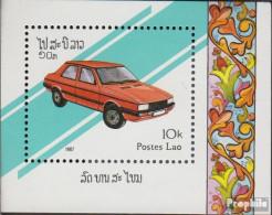 Laos Block117 (kompl.Ausg.) Postfrisch 1987 Autos - Laos