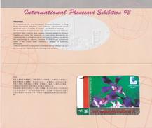 INDONESIA INDONESIEN - IND P 125 -P 121  INTL Phonecard Exibition 93  Folder 1000ex.  Limited Edition.Mint- RRR - Indonesia