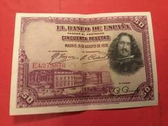 50 PESETAS 15-8-1928 - [ 1] …-1931 : Premiers Billets (Banco De España)