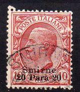 Smirne 1909  Sovrastampato. N. 1 Timbrato Used - Buitenlandse Kantoren