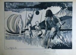 AL NATURALE - Tavola Originale Disegnata Nel 1972 Da Marco Rostagno - Disegni