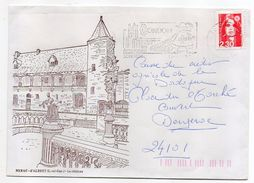 """1990 -tp """"Marianne Du Bicentenaire """" Seul Sur Lettre Illustrée NERAC D'Albret-Le Chateau-flamme CONDOM - 1961-...."""
