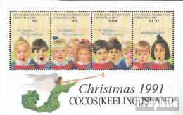 Kokos-Inseln Block11 (kompl.Ausg.) Postfrisch 1991 Weihnachten - Kokosinseln (Keeling Islands)