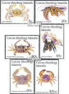 Kokos-Inseln 260-265 (kompl.Ausg.) Postfrisch 1992 Krebse - Kokosinseln (Keeling Islands)