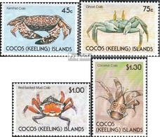 Kokos-Inseln 224-227 (kompl.Ausg.) Postfrisch 1990 Krebse - Cocos (Keeling) Islands