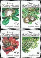 Kokos-Inseln 209-212 (kompl.Ausg.) Postfrisch 1989 Pflanzen - Kokosinseln (Keeling Islands)