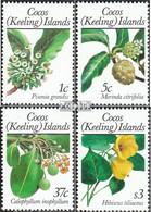 Kokos-Inseln 198-201I (kompl.Ausg.) Postfrisch 1988 Pflanzen - Kokosinseln (Keeling Islands)