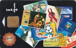 Malta, MT-MLT-0095, Telecard Collectors Club, Football, Lion, Bird, Aids, 2 Scans.    NB : Slight Bend - Malta