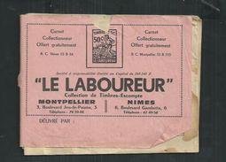 """Livret """"Le Laboureur"""" Nîmes (Gard), Montpellier (Hérault) Avec 687 Timbres Escompte - Commemorative Labels"""