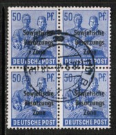 GERMAN DEMOCRATIC REPUBLIC   Scott # 10N 13 VF USED BLK. Of 4 - Soviet Zone