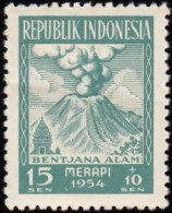 INDONEDIA - Scott #B69 Natural Disasters Relief Fund Surcharged / Mint H Stamp - Volcanos