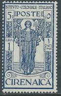1926 CIRENAICA PRO ISTITUTO COLONIALE 1 LIRA MNH ** - CZ9 - Cirenaica