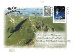 Enveloppe Oblitération LA POSTE 12599A 09/12/2013 - Postmark Collection (Covers)