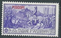 1930 EGEO PISCOPI FERRUCCI 20 CENT MH * - CZ47-7 - Egeo (Piscopi)