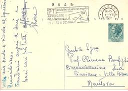 Siracusana FIL C154 Taglio Molto Spostato - 1959 - 6. 1946-.. Republik