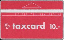 PTT: P05A 912A Taxcard Rot -  Kontrollnummer Kopfstehend - Switzerland