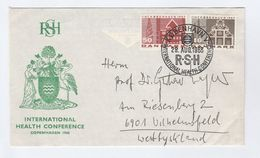 1968 COPENHAGEN HEALTH Conference  EVENT COVER Denmark Stamps Medicine Bird - Medicine