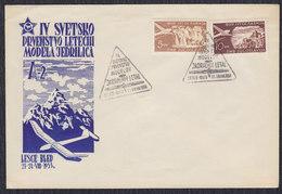 Yugoslavia 1953 Gliding World Championships In Bled, Cover - 1945-1992 Sozialistische Föderative Republik Jugoslawien