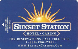 Sunset Station Hotel Casino - Las Vegas, NV - Hotel Room Key Card - Hotel Keycards