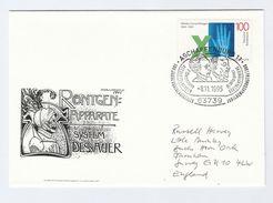 1995 Aschaffenburg GERMANY EVENT COVER RONTGEN X RAYS DRESSAUER, WIESNER Health Radiation Medicine Stamps Physics - Medicine