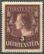 Liechtenstein 1951. Michel #305-B MNH/Luxe. Princess Gina. (B13) - Liechtenstein