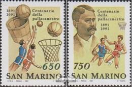 San Marino 1477-1478 (kompl.Ausg.) Postfrisch 1991 Basketball - Saint-Marin