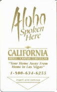California Hotel Casino - Las Vegas, NV - Hotel Room Key Card - Hotel Keycards
