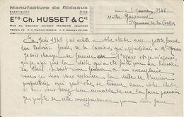 MAMERS CH HUSSET MANUFACTURE DE RIDEAUX ANNEE 1946 - France
