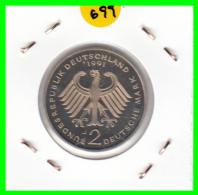 ALEMANIA - GERMANY  MONEDA DE 2.00 DM - AÑO 1991 -J  KURT SCHUMACHER S/C - [ 7] 1949-… : RFA - Rep. Fed. Alemana