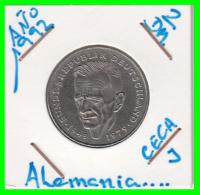 ALEMANIA - GERMANY  MONEDA DE 2.00 DM - AÑO 1992 -J  KURT SCHUMACHER - [ 7] 1949-… : RFA - Rep. Fed. Alemana