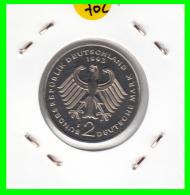 ALEMANIA - GERMANY  MONEDA DE 2.00 DM - AÑO 1993 -F  KURT SCHUMACHER   S/C - [ 7] 1949-… : RFA - Rep. Fed. Alemana