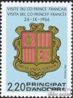 Andorra - Französische Post 376 (kompl.Ausg.) Postfrisch 1987 Co-Fürsten - Carnets