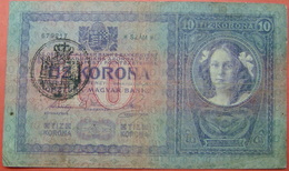 FIUME - RIJEKA 10 KRONEN ND 1918 (OLD DATE 1944), ITALY, CROATIA, AUSTRIA, HUNGARY, SEAL ON REVERSE, ORIGINAL SEAL, RARE - [ 6] Colonies