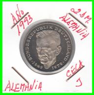 ALEMANIA - GERMANY  MONEDA DE 2.00 DM - AÑO 1993 -J  KURT SCHUMACHER  - S/C - [ 7] 1949-… : RFA - Rep. Fed. Alemana