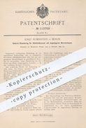 Original Patent - Josef Rubinstein , Berlin , 1899 , Einsatzring Für Glühlichtbrenner   Brenner , Petroleum - Licht !! - Historische Dokumente
