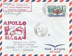 Madagascar 1970 Tananarive Satellite Tracking Station NASA Apollo Space Cover - Madagaskar (1960-...)