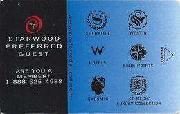 Starwood Hotels Room Key Card - Hotel Keycards