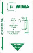 MIWA Hotel Room Key Card - Hotel Keycards