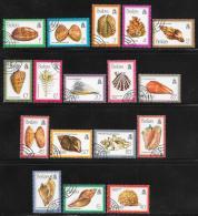Belize, Scott # 471-87 Cto Used Complete Set Seashells, 1980 - Belize (1973-...)