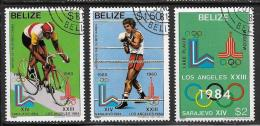 Belize, Scott # 556-8 Cto Used Olympics, 1981 - Belize (1973-...)