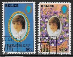 Belize, Scott # 621-3 Cto Used Diana Birthday, 1982 - Belize (1973-...)
