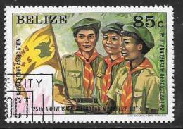 Belize, Scott # 642 Cto Used Boy Scouts, 1982 - Belize (1973-...)