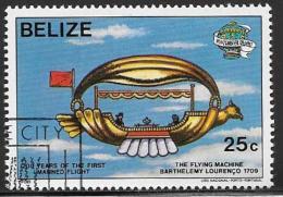 Belize, Scott # 673 Cto Used Manned Flight Bicent., 1983 - Belize (1973-...)
