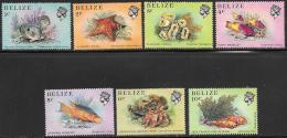 Belize, Scott # 699-705 MNH Sea Life, 1984 - Belize (1973-...)