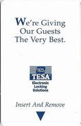 Generic TESA Hotel Room Key Card - Hotel Keycards