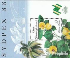 Kokos-Inseln Block7 (kompl.Ausg.) Postfrisch 1988 Pflanzen - Kokosinseln (Keeling Islands)
